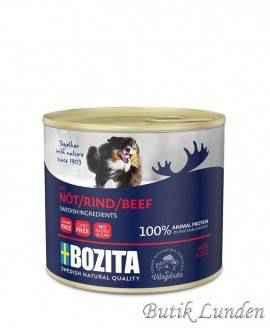 - Oksekød - Bozita Hundemad - Pate - 625 gram