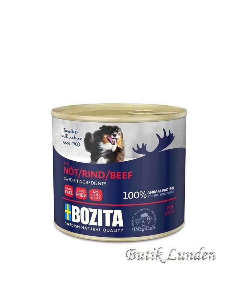 Oksekød - Bozita Hundemad - Pate - 625 gram  - 2