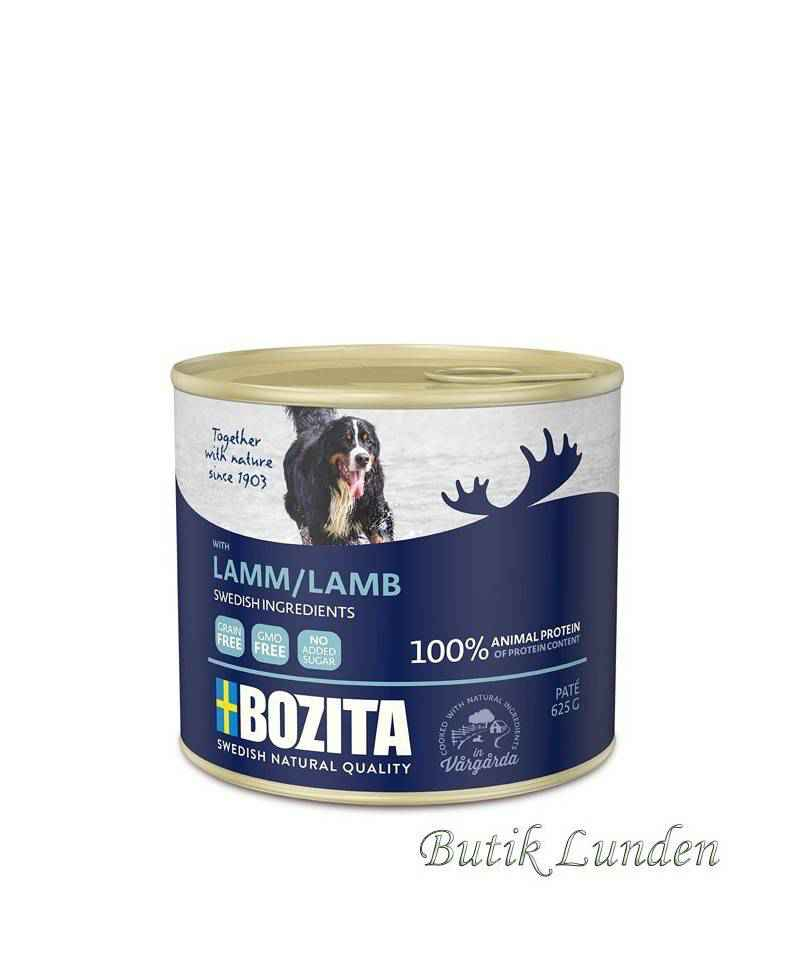 Lam - Bozita Pate - Hundemad - 625 gram  - 2