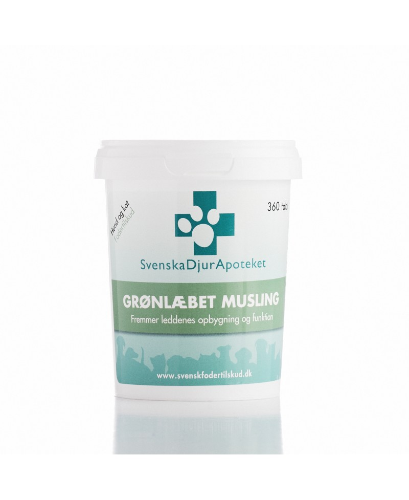 Grønlæbet Musling 360 tabletter - Svensk Dyr Apotekets Grønlæbet Musling  - 1