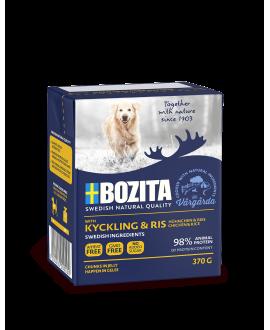 16 x KYLLING OG RIS bidder i gele 370 gram - Bozita hundemad  - 1