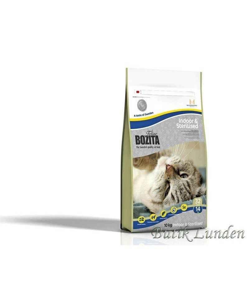 10 kg Bozita Feline Indoor & Sterilised, kattemad  - 1