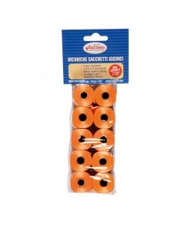Høm høm poser - Orange - 10 ruller prutteposer á 20 stk  - 1