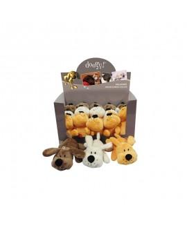 Lille Hvid Plys Hunde bamse  - 1