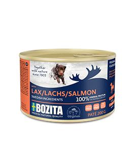 20 x Lakse pate 200 gram - Bozita Hundemad  - 2