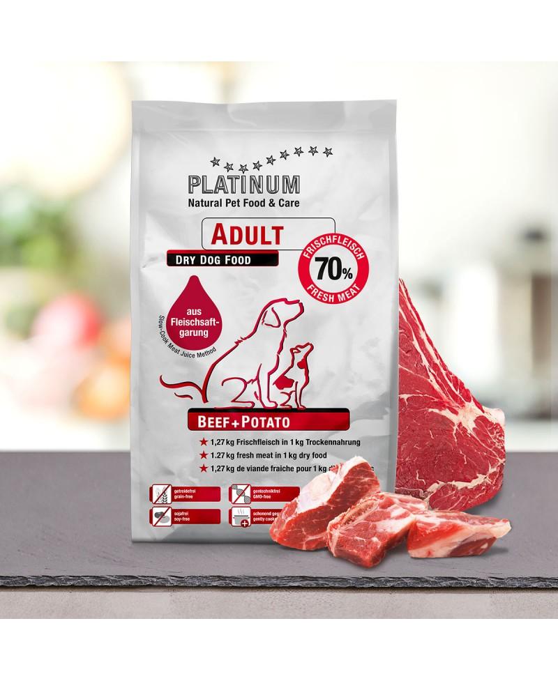 5 kg Platinum Oksekød Adult Hundefoder Platinum - 1